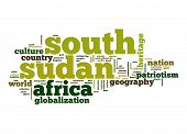 foto of sudan  - South Sudan word cloud image with hi - JPG
