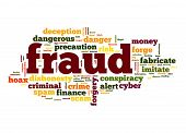 picture of precaution  - Fraud word image with hi - JPG