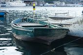 picture of ski boat  - Fishing boat moored in the bay of Balaklava, Crimea ** Note: Soft Focus at 100%, best at smaller sizes - JPG