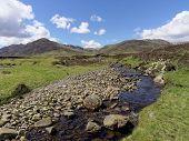 stock photo of na  - River Calder Glen Banchor west of Newtonmore Scotland highlands in spring - JPG