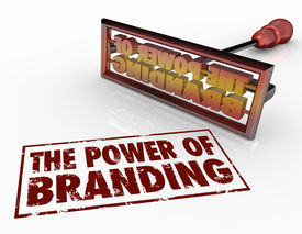 image of loyalty  - The Power of Branding words and a brand iron to illustrate trust - JPG