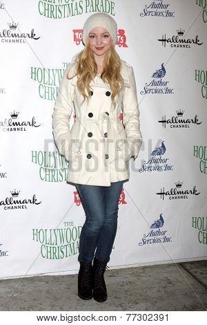 LOS ANGELES - NOV 30:  Dove Cameron at the 2014 Hollywood Christmas Parade at the Hollywood Boulevard on November 30, 2014 in Los Angeles, CA