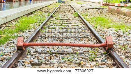 End Of Track With A Train Railway
