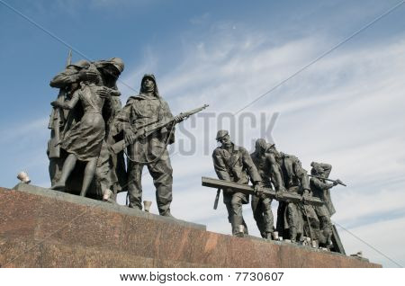War monument on Victory square, Saint Petersburg