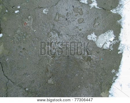 Background melting snow