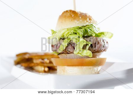 Hamburger On A Plate