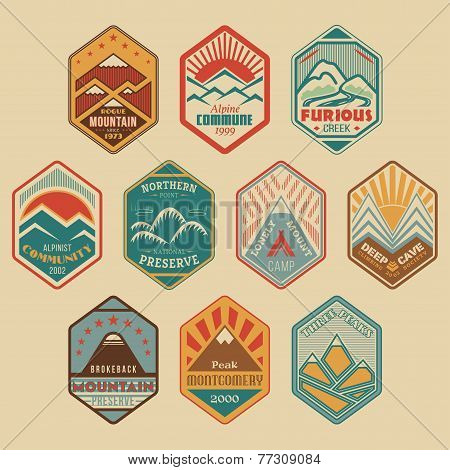 Mount badge set1color