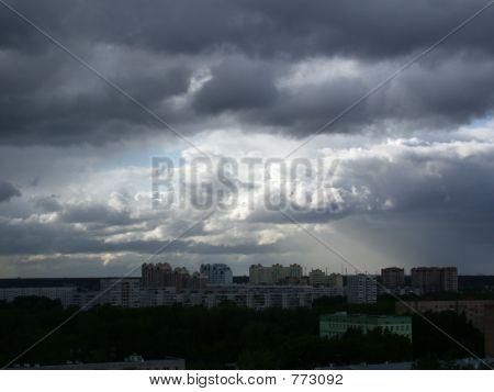 poster of rain on city