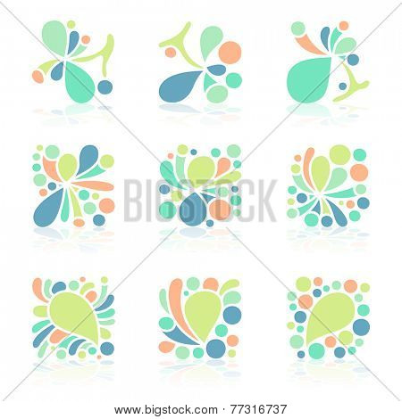 Pastel color icon set, vector eps10 format