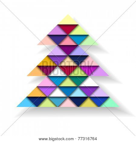 Colorful Geometric Christmas Tree, vector eps10 illustration