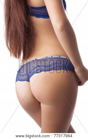 Woman's Sexy Buttocks In A Bikin