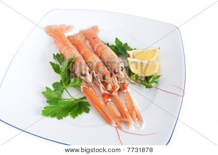 Raw Prawns With Lemon And Parsley
