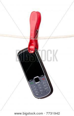 Cellphone hängen Wäscheleine