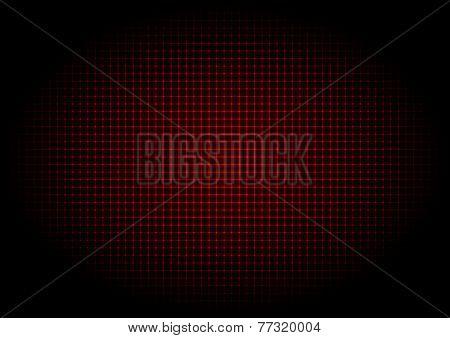 illustration - background of red laser grid