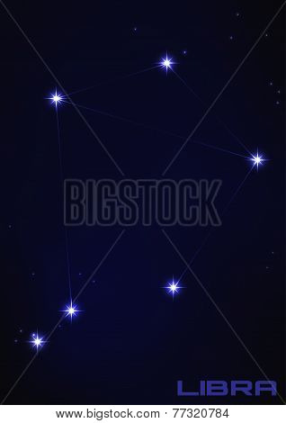 illustration of Libra constellation