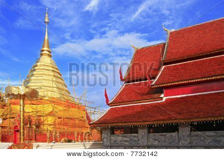 chedi and temple