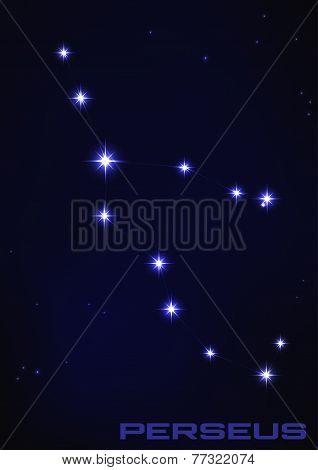illustration of Perseus constellation