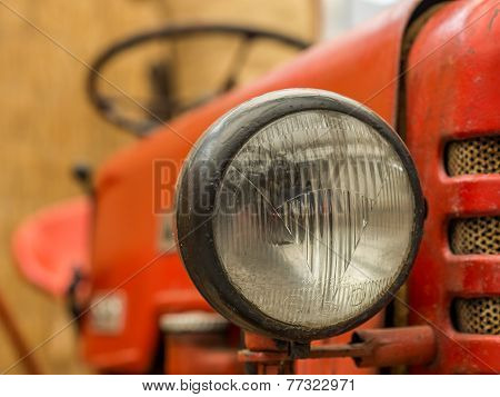 Closeup Of Tractor Lamp