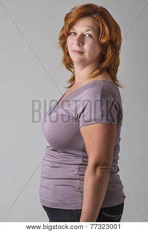 Sligthly Overweight Woman