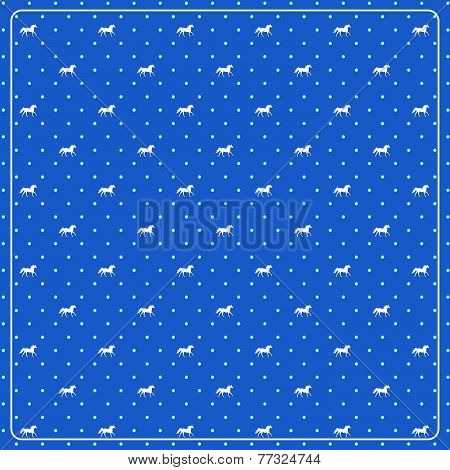 Horse pattern in vector with symbol of year