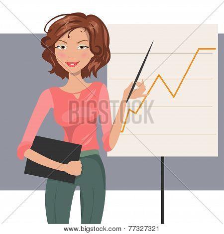 Business Woman. Vector Illustration