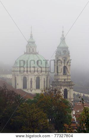 Church Of St Nikolas In Fog
