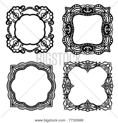 Ornamental label or frame collection