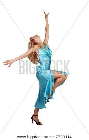Blond Tall Girl Dancing.
