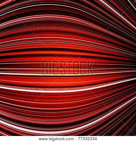 Abstract black and red warped stripes colorful background