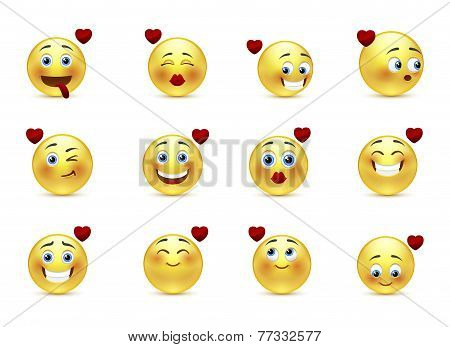 Set Valentine Of Smilies