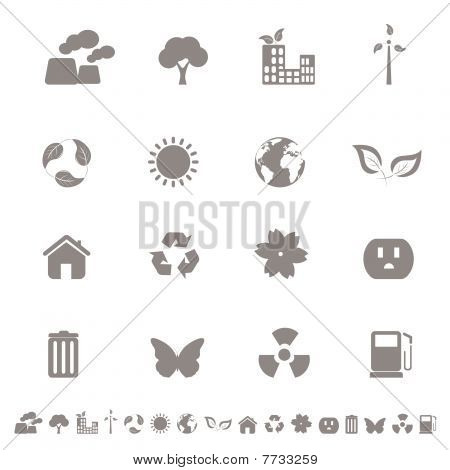 Eco friendly and environment icon set