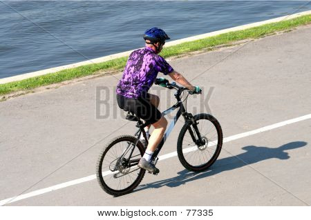 Man On His Mountainbike