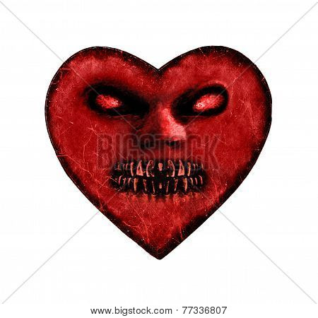 Evil Heart Dark Illustration