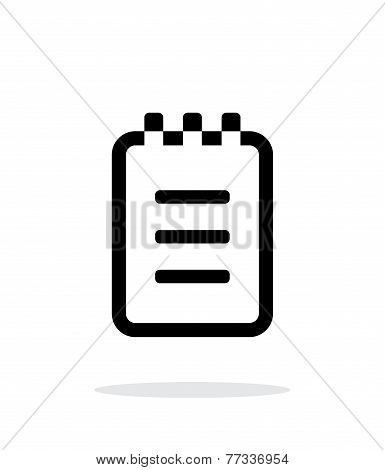Notepad simple icon on white background.