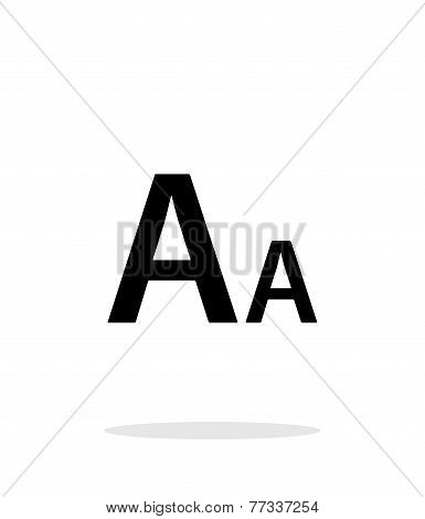 Font size simple icon on white background.