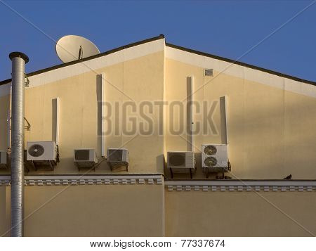house with air conditioners