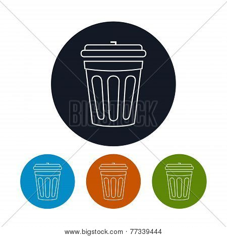 Icon dustbin , vector illustration