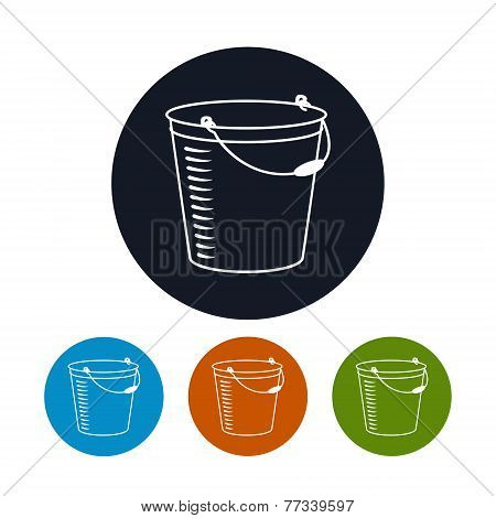 Icon bucket , vector illustration