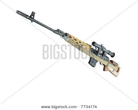 Sniper Rifle Mmg Svd By Dragunov With Optics