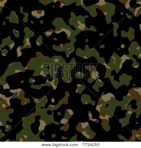 Seamless Camouflage Wallpaper Background