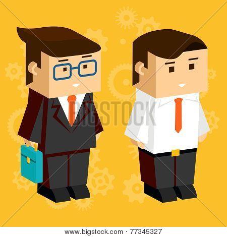Square businessmen