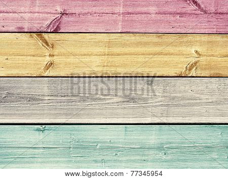 Colorful painted wooden planks texture