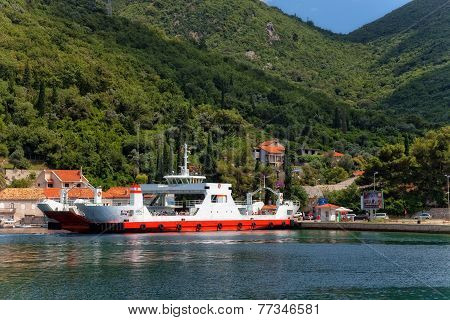 Ferry In Kotor Bay