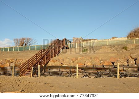 Steps Over Dune Construction.