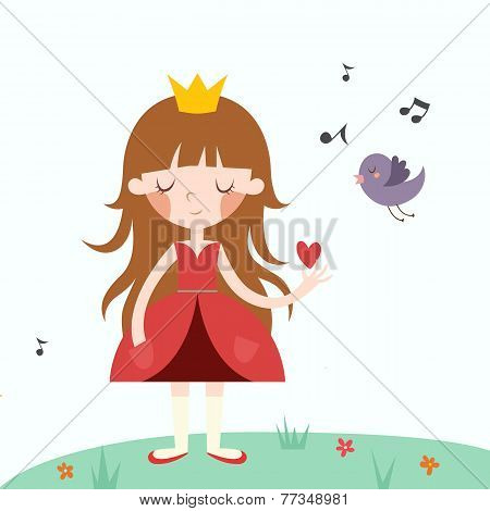 Vector illustration of princess.