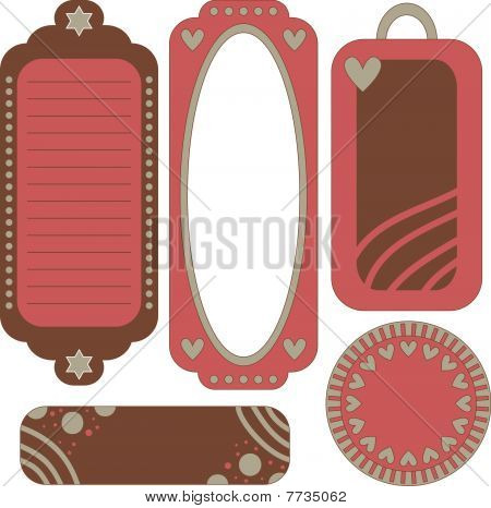 Beautiful vector tag or label collection
