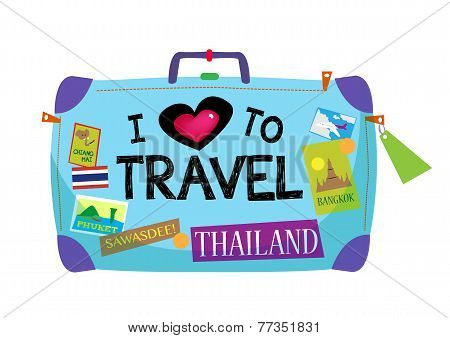 Baggage with I Love To Travel Thailand theme