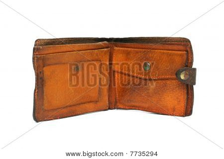 Grunge Wallet Isolated