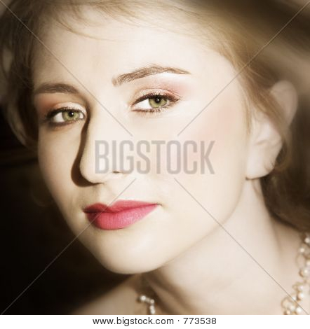 Young Bride With Large Green Eyes