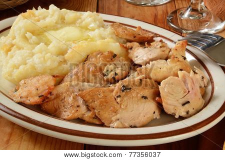 Turkey And Mashed Potatoes